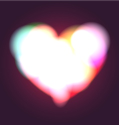 Glowing Heart vector image