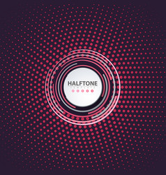 halftone idea color business template vector image
