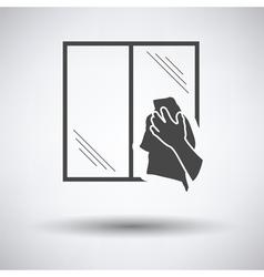 Hand wiping window icon vector image