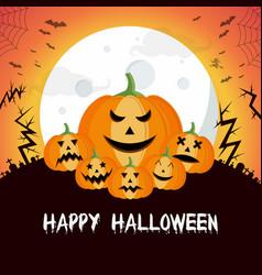 Happy halloween background flat design vector