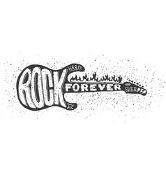 Hard rock guitar vector