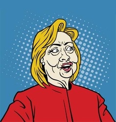 Hillary Clinton Pop Art Portrait vector