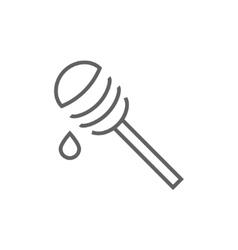 Honey dipper line icon vector image