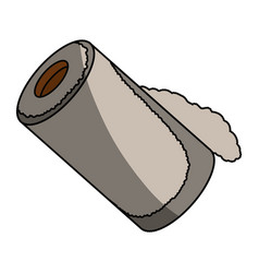 Isolated paper towel roll vector