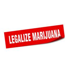 Legalize marijuana sticker legalize marijuana vector