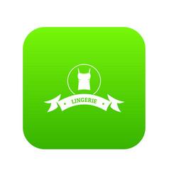 Lingerie fashion icon green vector