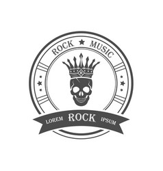 logotype rock music vector image