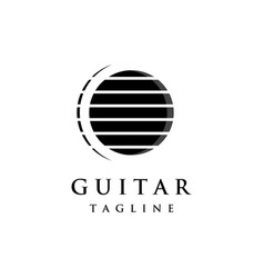 Luxury abstract logo symbol for guitar classic vector