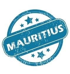 MAURITIUS round stamp vector image