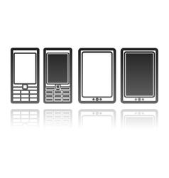 mobile phones and tablet computers communication vector image