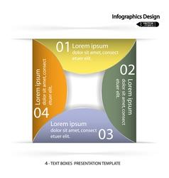 Modern presentation template vector image