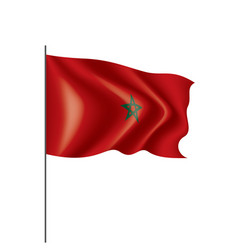 morocco flag on a white vector image