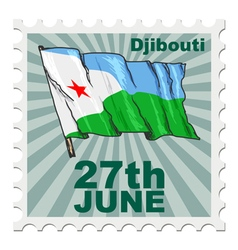 National day of Djibouti vector