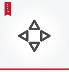 navigation arrows icon in modern style for web vector image