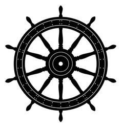 old sailing ship wheel vector image