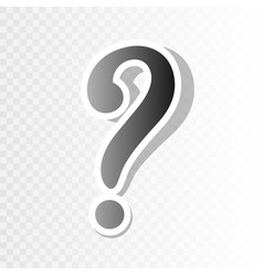 question mark sign new year blackish icon vector image