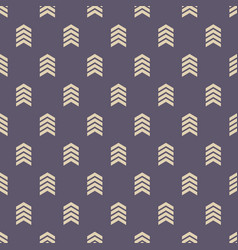 seamless pattern with arrows motif vector image