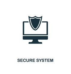 secure system icon premium style design from vector image