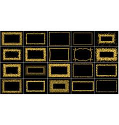 Set gold frames vector
