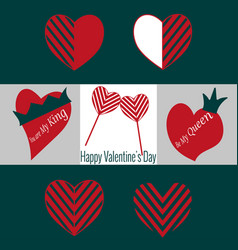 set of valentines day icons vector image