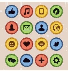Set social media badges vector