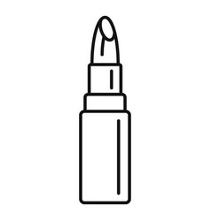 Sexy lipstick icon outline style vector