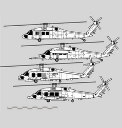 Sikorsky uh-60 black hawk vector