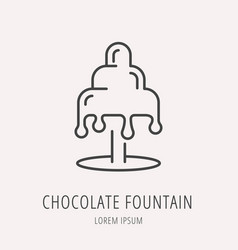 simple logo template chocolate fountain vector image