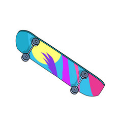 Skating board colorful item vector
