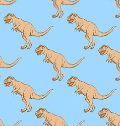 Sketch t-rex dinosaur in vintage style vector