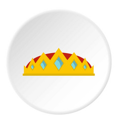 small crown icon circle vector image