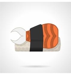 Sushi bento flat icon vector