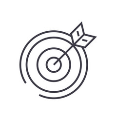 target arrow line icon sign vector image