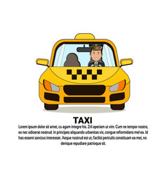 taxi service icon yellow cab automobile car over vector image