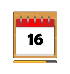 The Sixteen days in a calendar vector