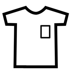 tshirt icon on white background t-shirt sign vector image