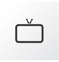 tv icon symbol premium quality isolated vector image