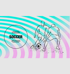 Two soccer players fighting for ball forward vector