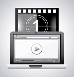 video player design vector image