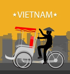 Vietnam Tricycle vector image
