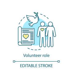 Volunteer role concept icon befriending mentoring vector