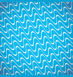 Wavy white lines blue background vector