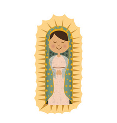 white background with canvas of virgin of vector image