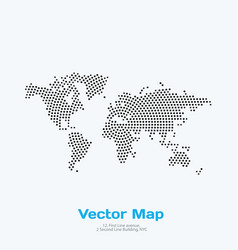 world map with rounds spots dots for vector image