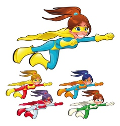 Young superheroes vector image
