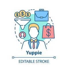 yuppie concept icon business person idea thin vector image