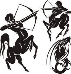 Zodiac signs - sagittarius set vector