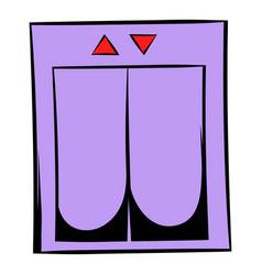 elevator icon cartoon vector image