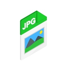 JPG file icon isometric 3d style vector image vector image