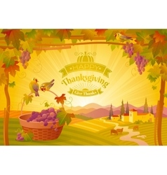 thanksgiving beautiful autumn vector image vector image
